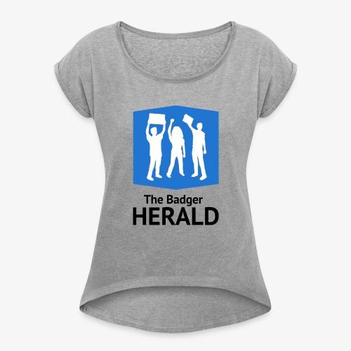 Blue Logo - Women's Roll Cuff T-Shirt