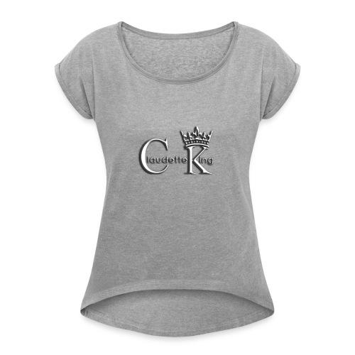 Claudett Blues King - Women's Roll Cuff T-Shirt