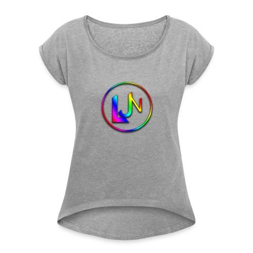LJN_Logo - Women's Roll Cuff T-Shirt