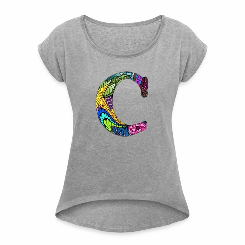 Letter C - Women's Roll Cuff T-Shirt