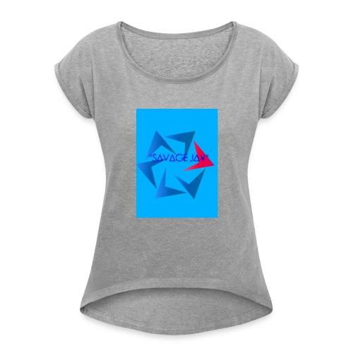 SAVAGE MERCH - Women's Roll Cuff T-Shirt