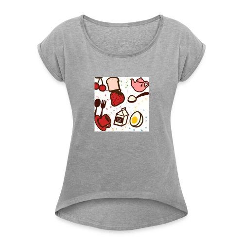 Classy cute brunch design! - Women's Roll Cuff T-Shirt