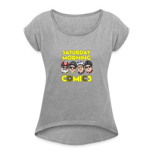 Saturday Morning Comics - Women's Roll Cuff T-Shirt