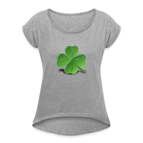RawdhaPlayz_RBLX - Women's Roll Cuff T-Shirt