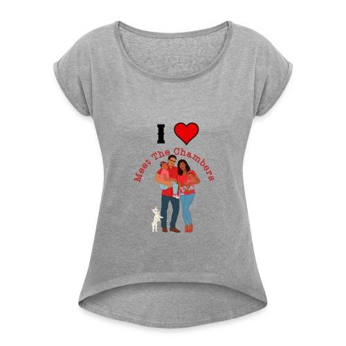 I Love MTC - Women's Roll Cuff T-Shirt