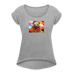 Baby Sloth Products! - Women's Roll Cuff T-Shirt