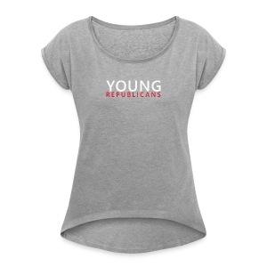 Full Text Horizontal Young Republicans - Women's Roll Cuff T-Shirt