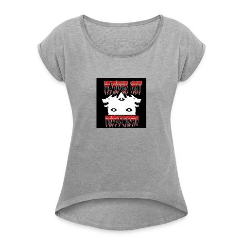 Murder Art Productions/M.A.P. - Women's Roll Cuff T-Shirt
