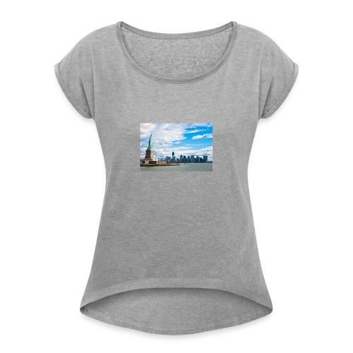 New York Skyline - Women's Roll Cuff T-Shirt