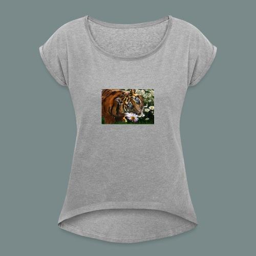Tiger flo - Women's Roll Cuff T-Shirt