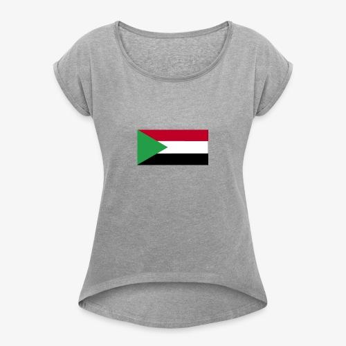 Sudan flag - Women's Roll Cuff T-Shirt