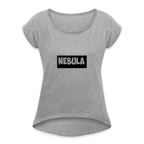 first shirt *crap* - Women's Roll Cuff T-Shirt