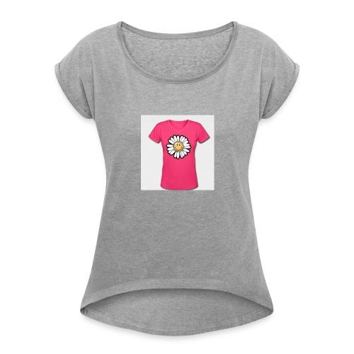 sunflower tee - Women's Roll Cuff T-Shirt