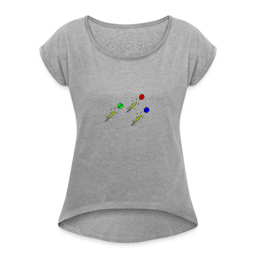 3 Darts - Women's Roll Cuff T-Shirt