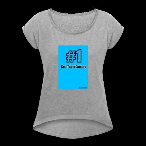 CoolTubergaming Shirts Mens,Women's and kids - Women's Roll Cuff T-Shirt