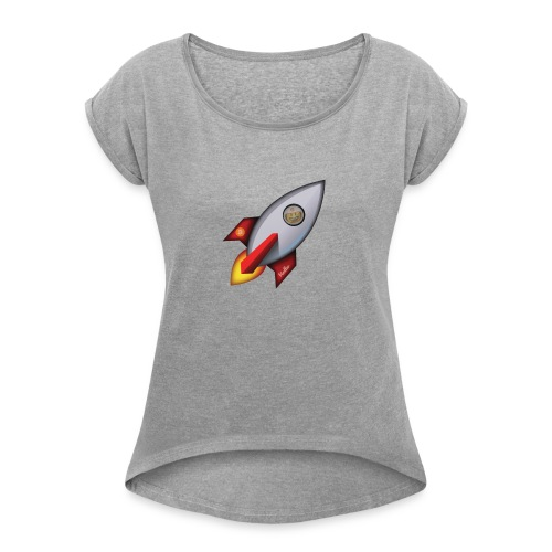 Bit for Buck: Hodler Rocket Coffee Mug - Women's Roll Cuff T-Shirt