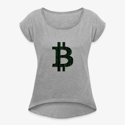 BTC Logo Matrix - Women's Roll Cuff T-Shirt