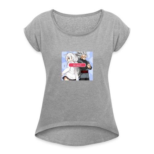 EnD x AnnA YT Official Logo #4 - Women's Roll Cuff T-Shirt