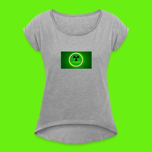 CorrosiveLick Reborn logo - Women's Roll Cuff T-Shirt