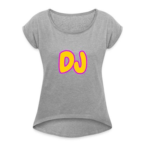 DJMERCH10 - Women's Roll Cuff T-Shirt