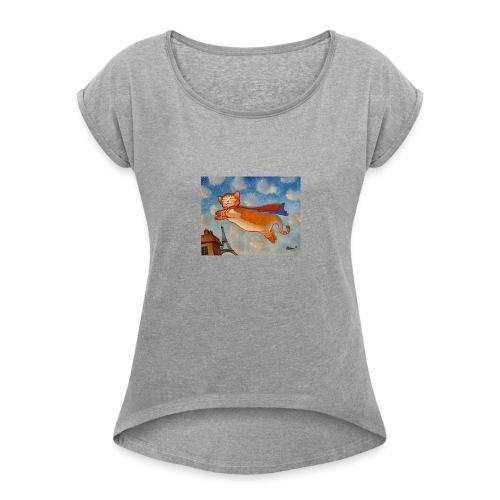 14e0cf00cb138c66f0dfbecf5e599832 super cat cat dr - Women's Roll Cuff T-Shirt