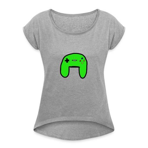 Brock's Game Controller - Women's Roll Cuff T-Shirt