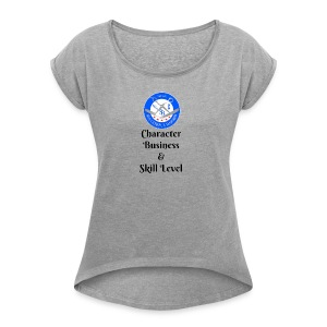 SB Seal Design - Women's Roll Cuff T-Shirt
