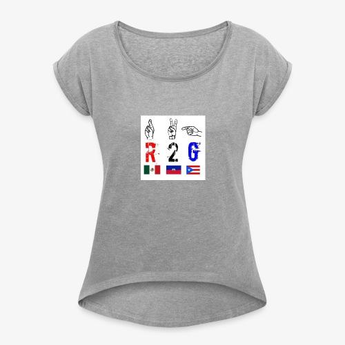 A7EEC35A 4227 48EE A4B6 B48BD969E92C - Women's Roll Cuff T-Shirt
