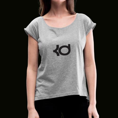 basket ball kevin #35 787658765875876667632 - Women's Roll Cuff T-Shirt