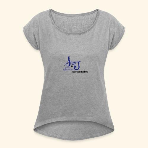 SMJ Rep. Blue - Women's Roll Cuff T-Shirt