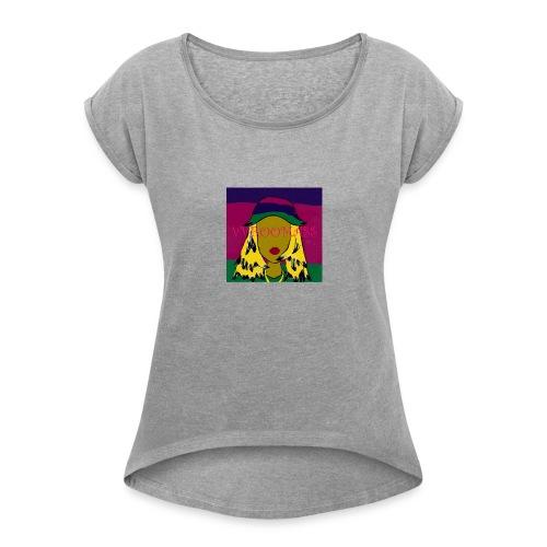 Laid Back Shawty - Women's Roll Cuff T-Shirt