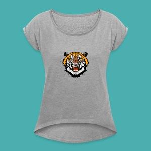 #wreckless - Women's Roll Cuff T-Shirt