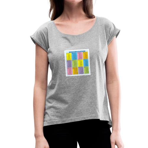 Multiplication Chart - Women's Roll Cuff T-Shirt