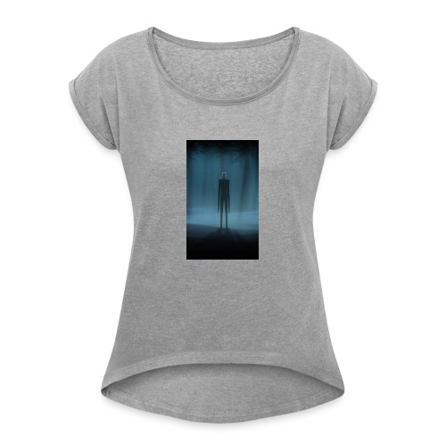 Creepy Forest Person - Women's Roll Cuff T-Shirt