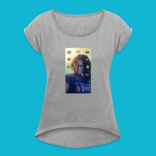 Jaralyssa Face - Women's Roll Cuff T-Shirt