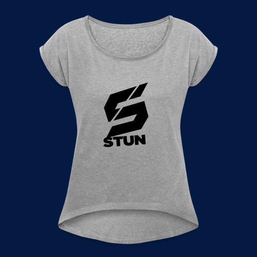 Stun Logo with text - Women's Roll Cuff T-Shirt