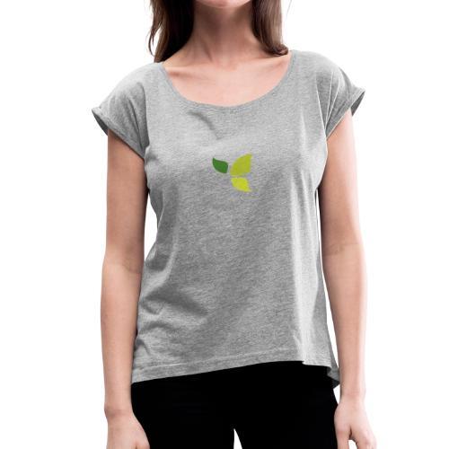 Dom Gooden Leaf Logo - Women's Roll Cuff T-Shirt
