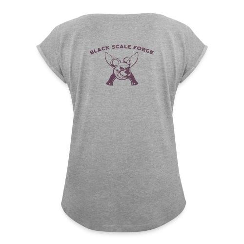 BSK Amok back - Women's Roll Cuff T-Shirt