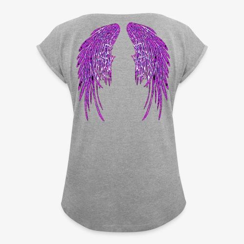 Fallen Angel - Women's Roll Cuff T-Shirt