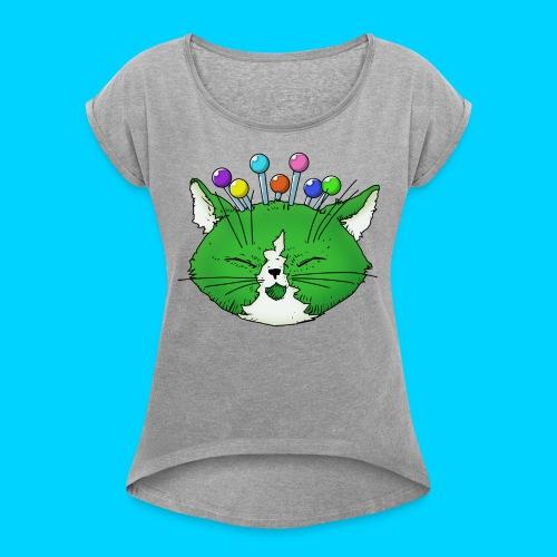 Fantastic Contraption III (no text) - Women's Roll Cuff T-Shirt