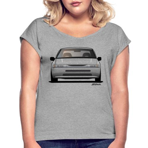 subaru_svx_sticker_clear - Women's Roll Cuff T-Shirt
