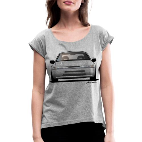 Subaru Alcyone SVX Modern JDM Icon Sticker - Women's Roll Cuff T-Shirt