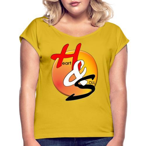 Rcahas logo gold - Women's Roll Cuff T-Shirt