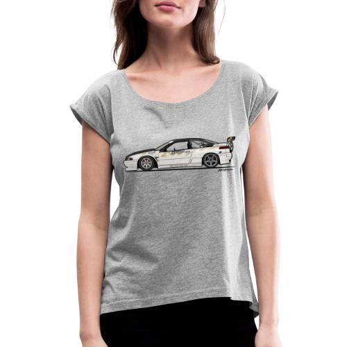 Subaru SVX Van Den Elzen Drift Car - Women's Roll Cuff T-Shirt