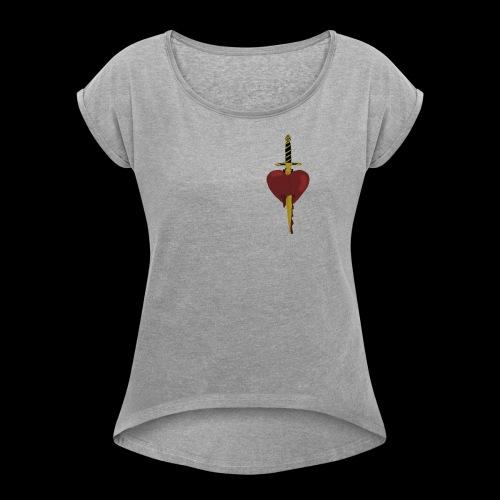 HEARTBROKEN - Women's Roll Cuff T-Shirt