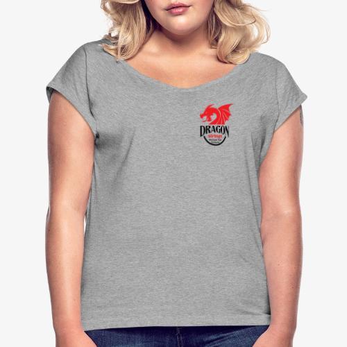 Official Red & Black logo - Women's Roll Cuff T-Shirt