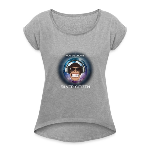 New we groove t-shirt design - Women's Roll Cuff T-Shirt