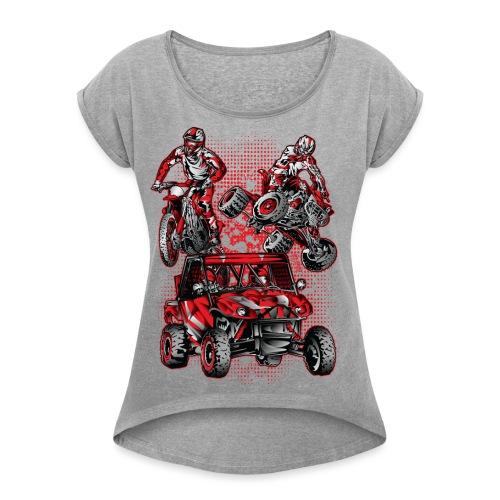Extreme Stunts Motorsports - Women's Roll Cuff T-Shirt