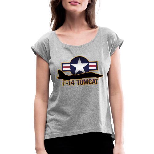 F-14 Tomcat - Women's Roll Cuff T-Shirt