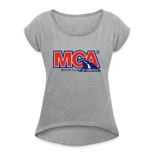 MCA_Logo_WBG_Transparent - Women's Roll Cuff T-Shirt